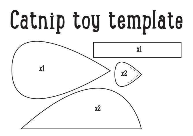 Cat Mouse Toy Template